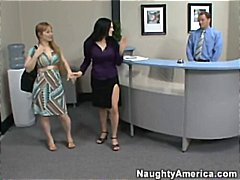 Boss's wife catches st... - Tube8