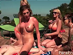 Busty Pool Party Orgy - Keez Movies