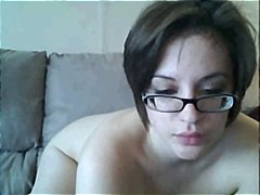 Woman with glasses on ... - Xhamster