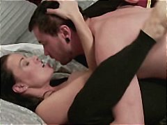 Brunette mom gets seduced by son's friend and gets drilled