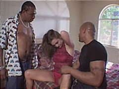 retro, husband, threesome, beautiful, group sex, interracial, brunette, blowjob, cumshot, sex, anal, wife, fucked