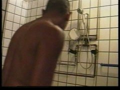 young, anal, under, shower