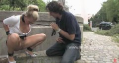 public, watch, fetish, fucked, extreme, gets, leather, disgrace, men, spanking, slave, park, sadomaso, humiliation