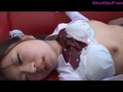 student, cums, girl, fucked, couch, japan, school, on, belly, schoolgirl, room, japanese, asian, young, uniform,