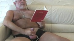 chubby, daddy, takes, bearish, hairy, jerking off, solo