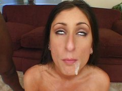 tiffany rayne, luscious lopez, cindy sterling,  group, ins gesicht spritzen, cumshot, ebenholz