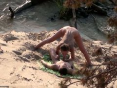 public, beach, blow-job, outdoor, hidden, couple, homemade, fucking, amateur, sex, outdoors, on
