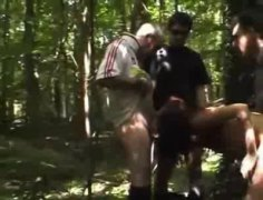 party, woods, gangbang, milfs, public nudity,
