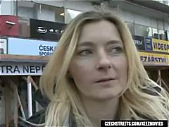 Blonde jitka is picked up on czech streets and gives him a blowjob