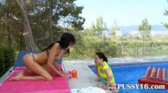 playing, sample, lesbian, clip, outdoors, blackhair, lezzies, brunette, this, pussies,
