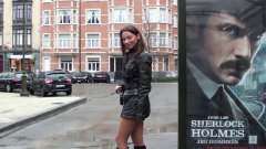 smoking, public nudity, boots, teens, walking, high heels, leather, heels, softcore, outfit, high