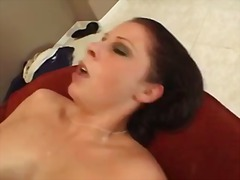 Gianna Michaels, redhead, cumshot, gianna michaels, blowbang, pornstar, group, curvy, big tits