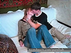 faits maison, blondes, amateurs, couple, baiser, pipes