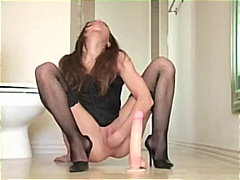 first-time, brunette, fisting, toys, dildo, homemade, masturbation