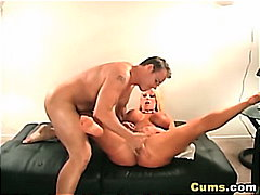 couple, doggy, cock, blond, cumshot, jugs, wife