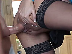 masturbation, tattoos, blowjob, stockings, couple, cum shot, rimming, blonde, shaved, russian