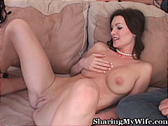 shaved, couple, blowjob, milf, cum shot, caucasian,