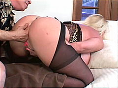 caucasian, couple, big tits, blowjob, blonde