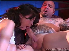 Tera Patrick, tera patrick, couple, brunette, pornstar, blowjob