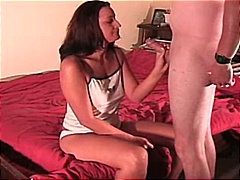 blowjob, creampie, amateur, pärchen, rasiert