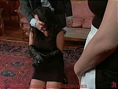 kinky, gagging, bdsm, maid, tied-up, fetish, hairy-pussy, lesbian, gag-ball