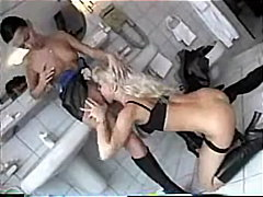 Silvia Saint, bathroom, raven, lesbians, silvia saint, oral-sex, threesome, pornstar