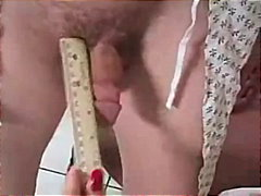 Dr. slut measures his cock
