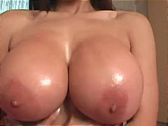 tits, softcore, solo, european, teasing, oil, milf, big, brunette