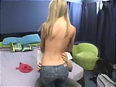 Amateur blonde teen gets picked up and given a good hard fuck