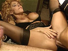 Hot italian babe milly d'abbraccio gets pounded by two hard cocks