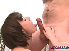 hardcore, amateurs, chattes, oral, jeune fille, brunettes, pipes