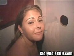 chubby, blowjob, amateur, brunette, latin, gloryhole