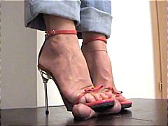 Red stilettos trample
