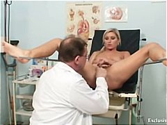 uniform, blonde, home made, medical, czech, rectal exam, gyno exam