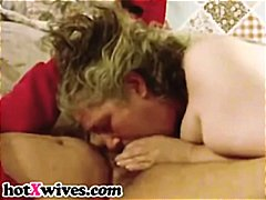 Chubby ex gets her face fucked by black cock