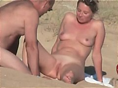 beach, hidden, french, sexy, shaved pussy, couple, nude