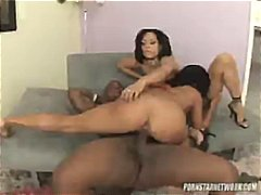 Rico has two babes to fuck and takes them for ride for an hour