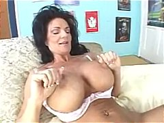 big tits, milf, huge, curvy, fake tits, foreplay, brunette, pussy eating, rimjob