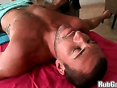 shaved, big dick, muscule, massage, blowjob, huge dick, oil