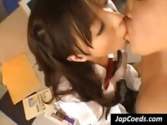 asian japanese, coed, teen, blow, petite, uniform, young