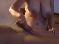 Big cum spray handjob