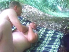 A quickie in the woods