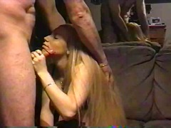 blond, amateur, hand job,