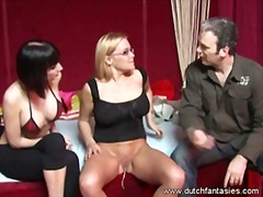 Busty hot ladies enjoyed an awesome threesome