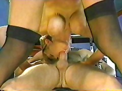 Big boobs german fucked by two guys