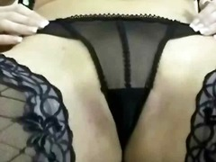 masturbation, stockings, mature, busty, lingerie, pussy, nylon, blonde, big tits, milf