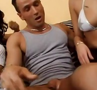 Blowjobs from two horny euro bitches