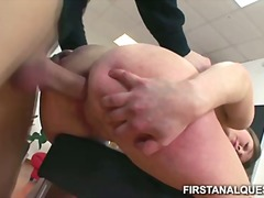 Cherry, blowjob, couple, russian, high heels, brunette, cream pie, anal sex, toys, cherry