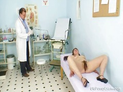 old, speculum, pussy, vagina, exam, mature, hairy pussy, granny, gyno