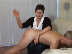 Spanked by a women